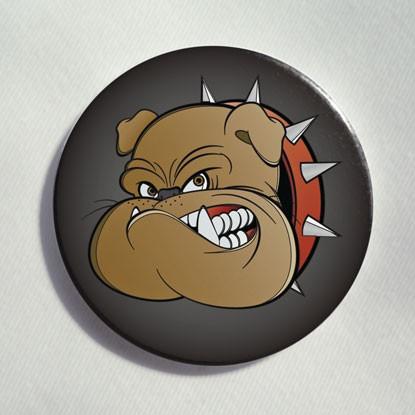 """Button """"böse Bulldogge"""""""