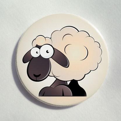 """Button """"lustiges Schaf"""""""