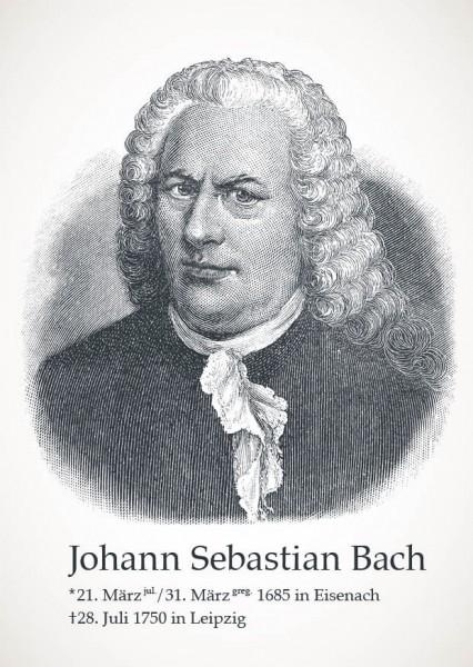 "Postkarte ""Johann Sebastian Bach"""