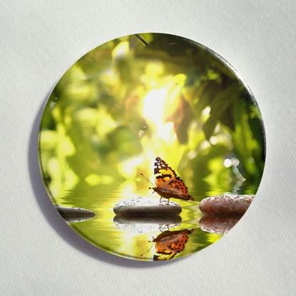 """Button """"Schmetterling am Wasser"""""""