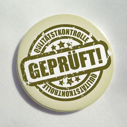 """Button """"Geprüft"""""""